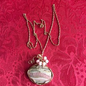 14 Karat Gold Chain NaturaStone Necklace